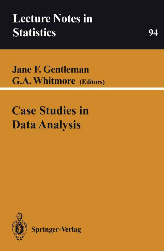 Case Studies in Data Analysis