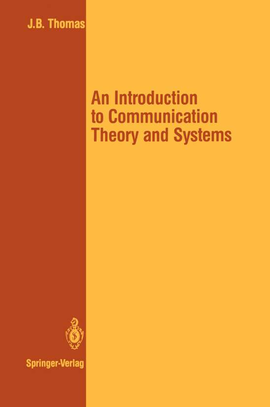 An Introduction to Communication Theory and Systems