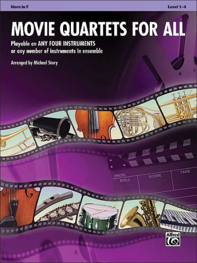 Movie Quartets for All - Horn in F