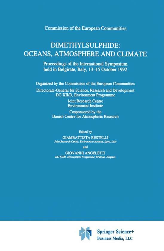 Dimethylsulphide: Oceans, Atmosphere and Climate