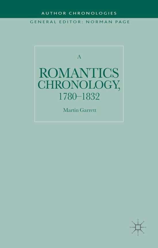 A Romantics Chronology, 1780-1832