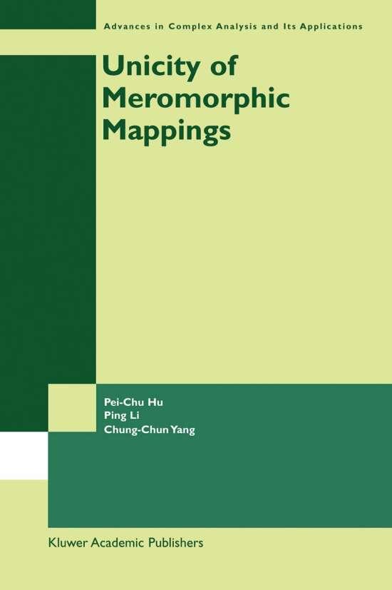 Unicity of Meromorphic Mappings