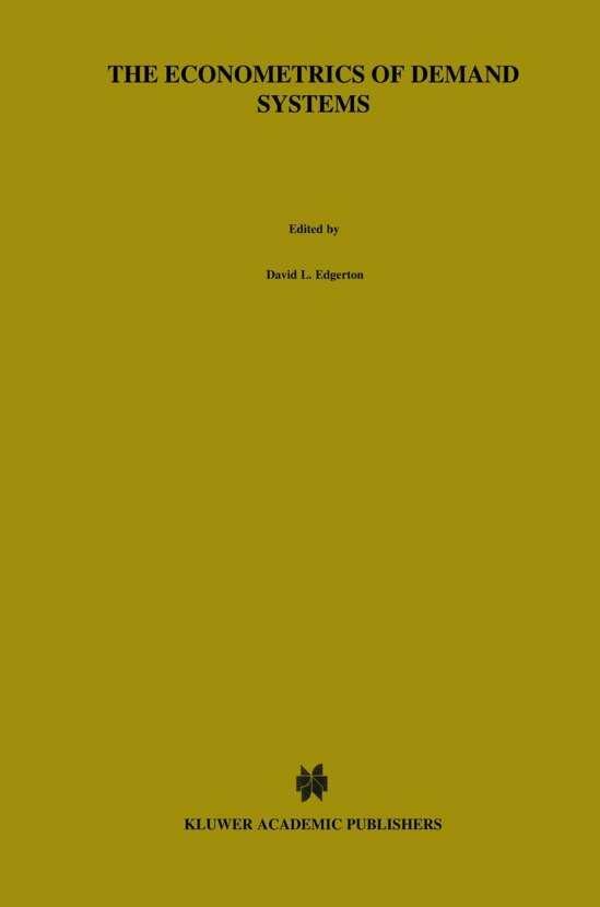 The Econometrics of Demand Systems