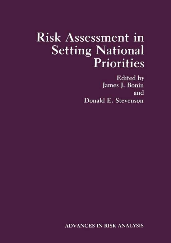 Risk Assessment in Setting National Priorities