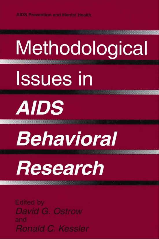 Methodological Issues in AIDS Behavioral Research