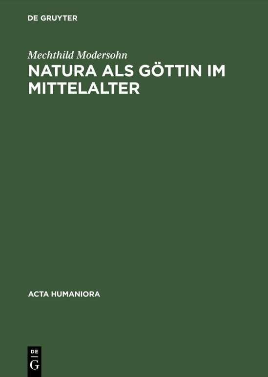 Natura als Göttin im Mittelalter