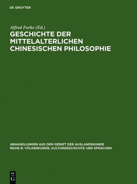 Geschichte der mittelalterlichen chinesischen Philosophie