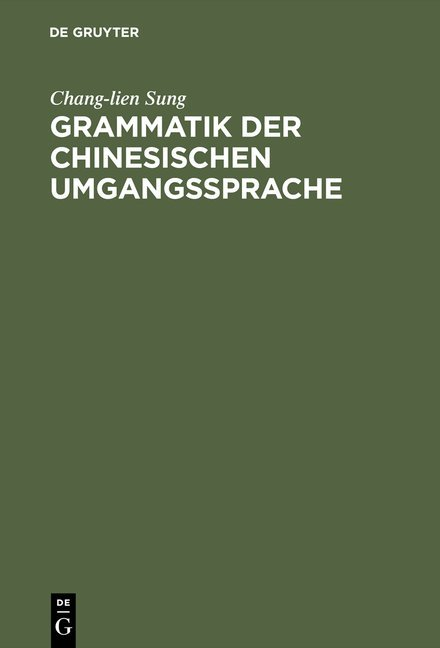 Grammatik der chinesischen Umgangssprache