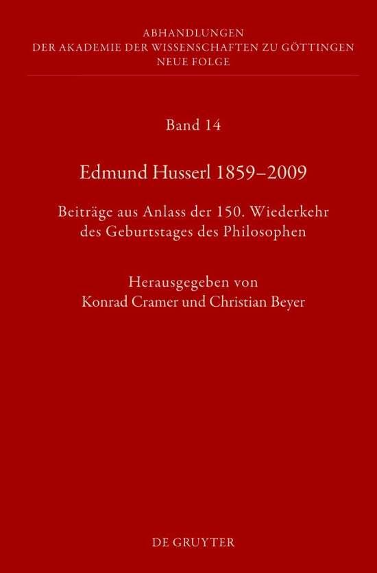Edmund Husserl 1859–2009