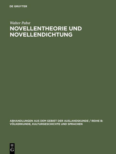 Novellentheorie und Novellendichtung