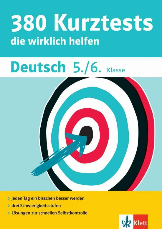 Klett 380 Kurztests Deutsch 5./6. Klasse