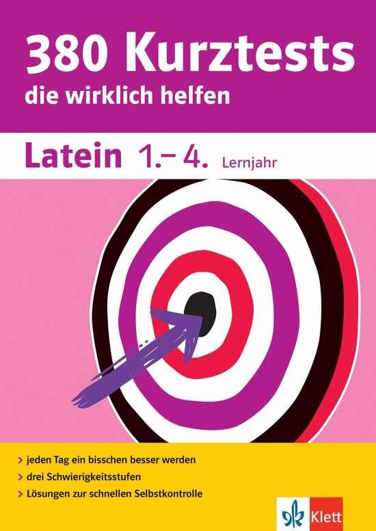 Klett 380 Kurztests Latein 1.-4. Lernjahr