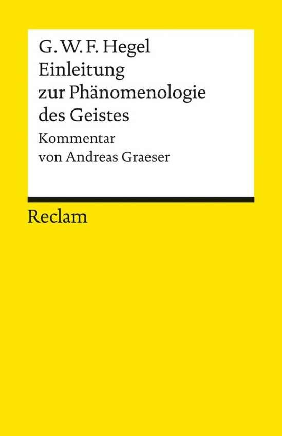 Einleitung zur Phänomenologie des Geistes