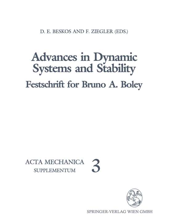Advances in Dynamic Systems and Stability