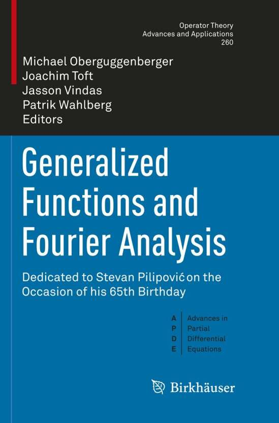 Generalized Functions and Fourier Analysis
