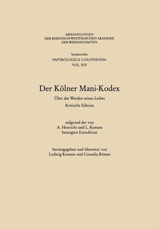 Der Kölner Mani-Kodex