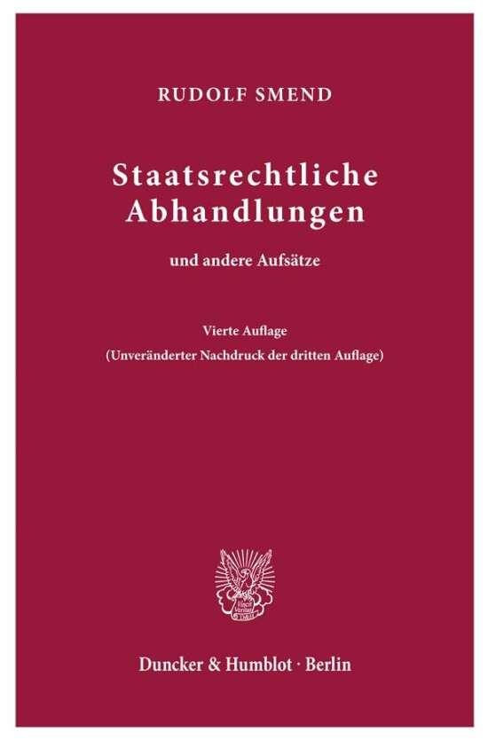 Staatsrechtliche Abhandlungen