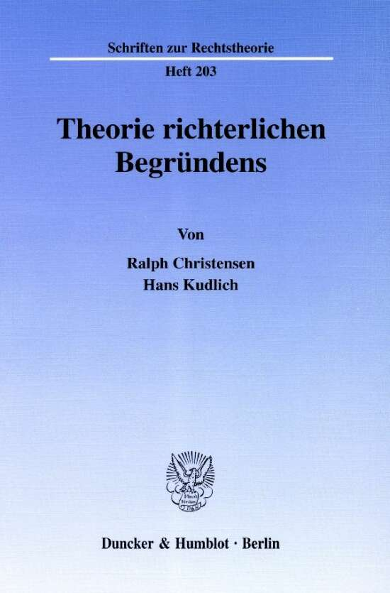 Theorie richterlichen Begründens.