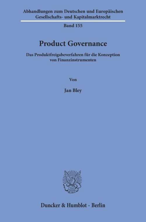Product Governance.