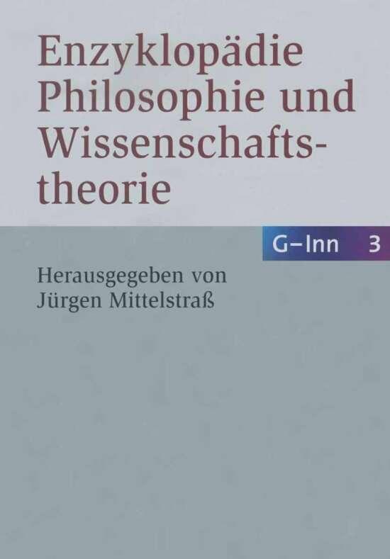 Enzyklopädie Philosophie und Wissenschaftstheorie