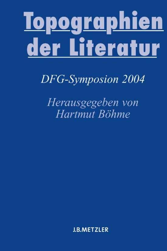 Topographien der Literatur