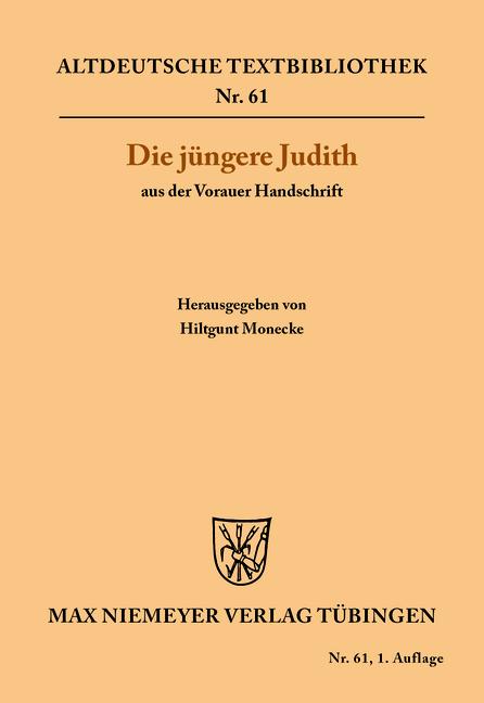 Die jüngere Judith aus der Vorauer Handschrift