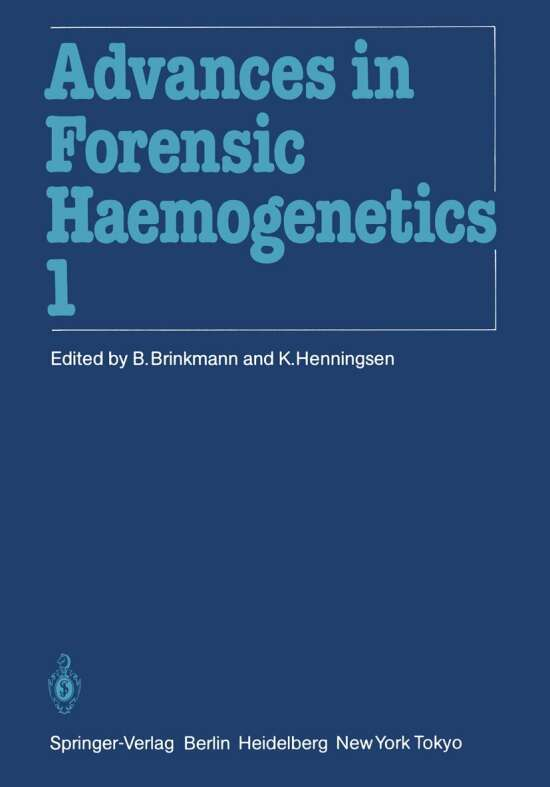 11th Congress of the Society for Forensic Haemogenetics (Gesellschaft für forensische Blutgruppenkunde e.V.)