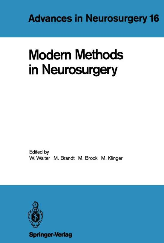 Modern Methods in Neurosurgery
