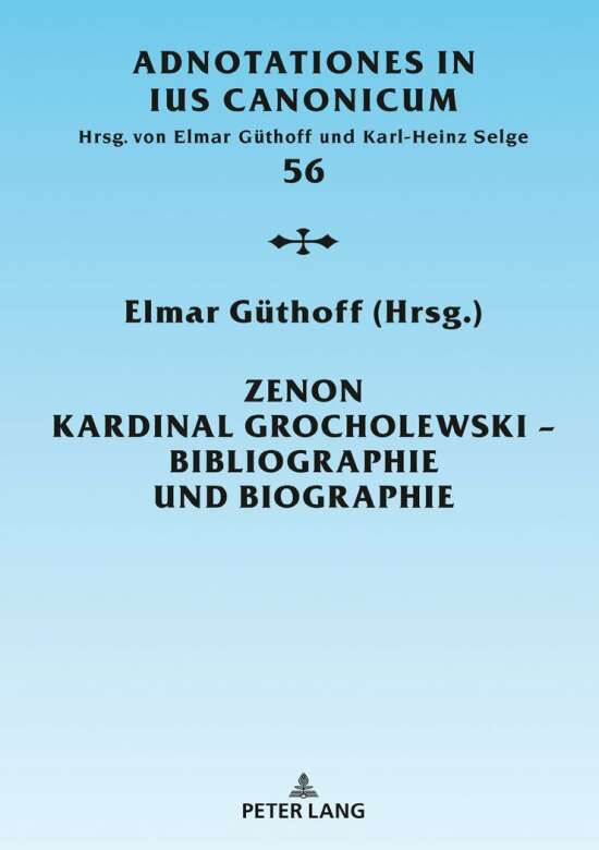 Zenon Kardinal Grocholewski – Bibliographie und Biographie