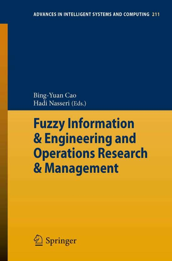 Fuzzy Information & Engineering and Operations Research & Management