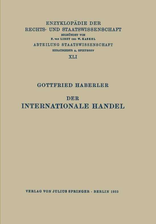 Der Internationale Handel