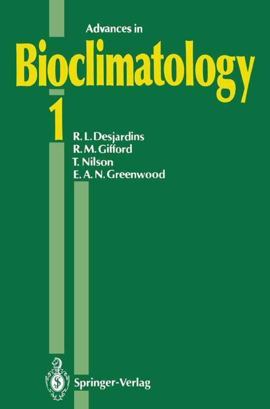Advances in Bioclimatology 1