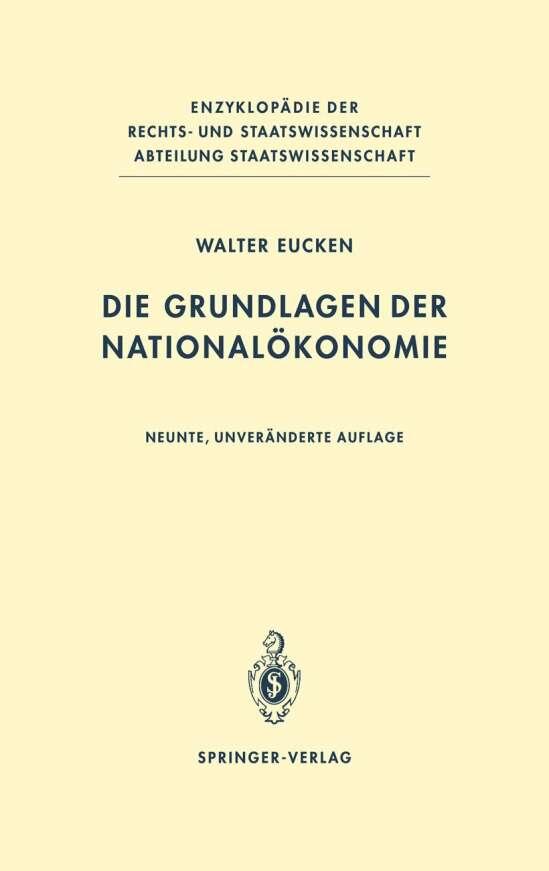 Die Grundlagen der Nationalökonomie