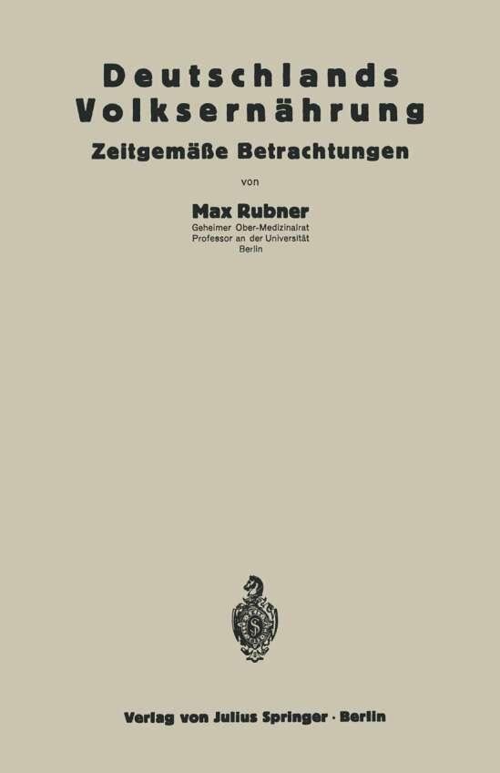 Deutschlands Volksernährung