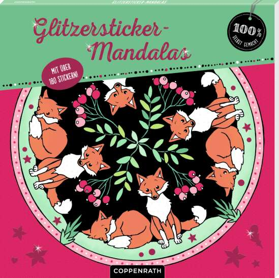 Glitzersticker-Mandalas