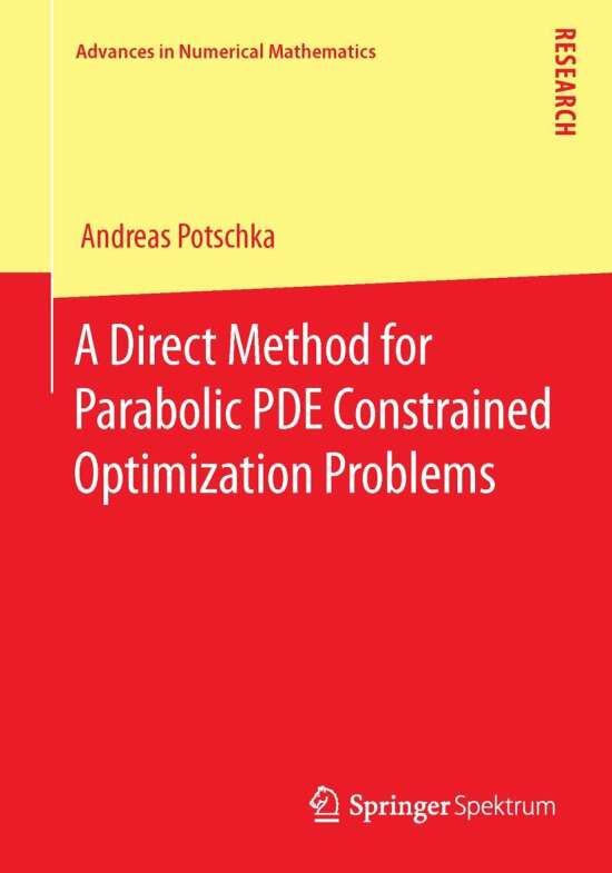A Direct Method for Parabolic PDE Constrained Optimization Problems