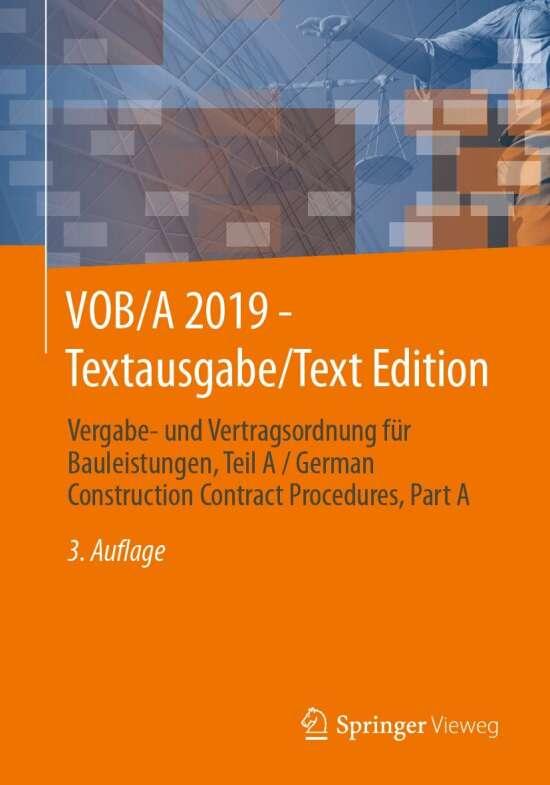 VOB/A 2019 - Textausgabe/Text Edition