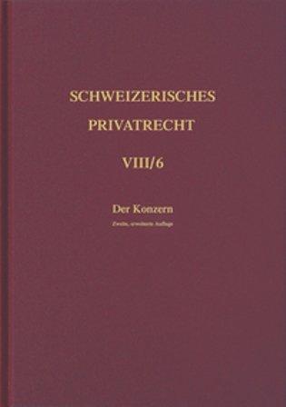 Bd. VIII/6: Der Konzern