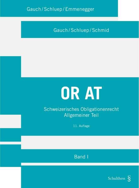 Schweizerisches Obligationenrecht Allgemeiner Teil