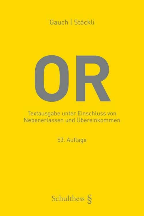 Schweizerisches Obligationenrecht (PrintPlu§)