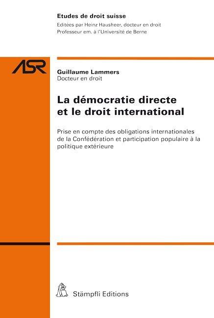 La démocratie directe et le droit international