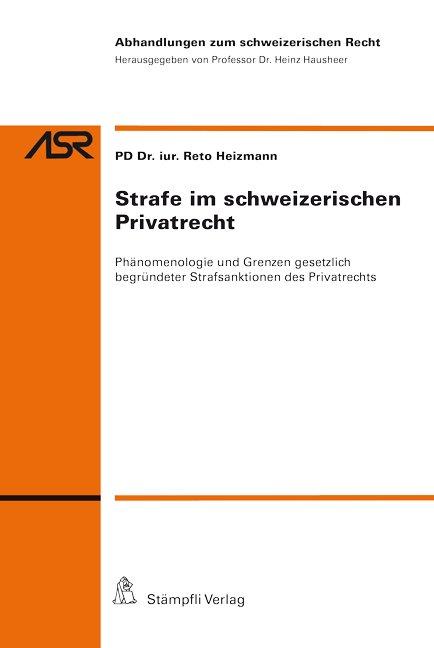 Strafe im schweizerischen Privatrecht