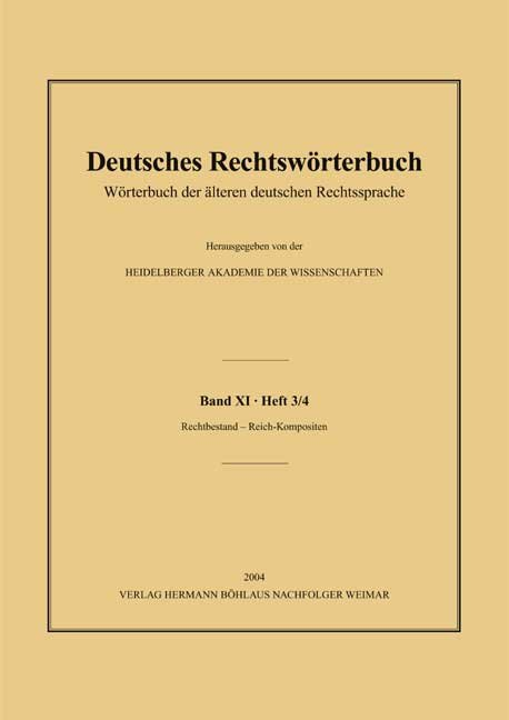 Deutsches Rechtswörterbuch