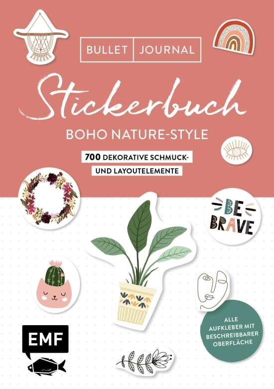Bullet Journal Stickerbuch – Boho Nature-Style