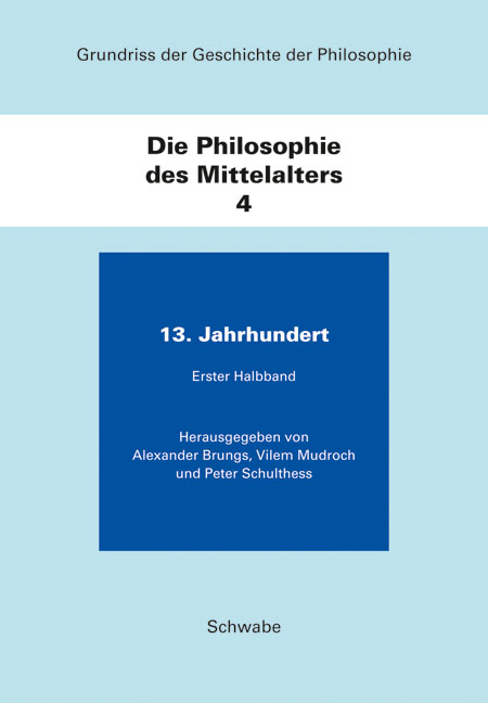 Grundriss der Geschichte der Philosophie / Die Philosophie des Mittelalters
