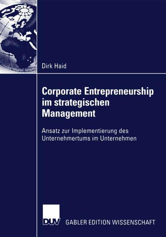 Corporate Entrepreneurship im strategischen Management