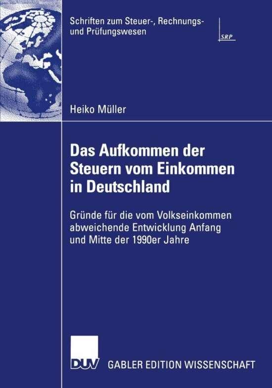 Das Aufkommen der Steuern vom Einkommen in Deutschland