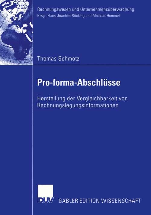 Pro-forma-Abschlüsse
