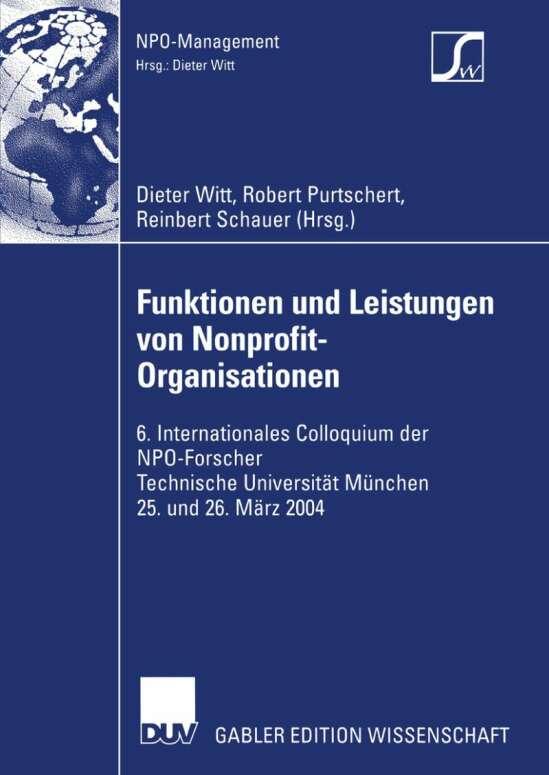 Funktionen und Leistungen von Nonprofit-Organisationen