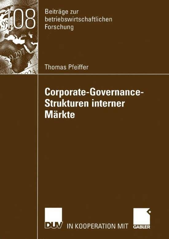 Corporate-Governance-Strukturen interner Märkte